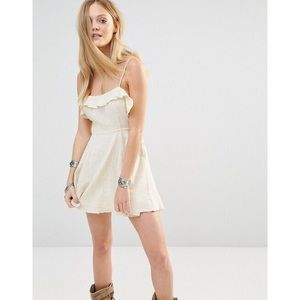 ❌SOLD❌Free People More Than A Mini lace up dress